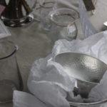錫のベース ガラスベース フランス直輸入