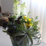アレンジメント 開店祝 ¥15,000- 切り花とエアプランツをミックス