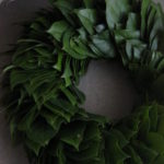 緑の葉のリース 直径約33㎝ 新築祝い ¥10,000~