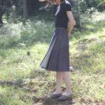 国産デニムのラップスカート